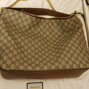Authentic tan Gucci shoulder purse